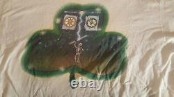 Rare Never Worn Grateful Dead Shamrock Boston Garden Fall 1991 Tour T-shirt