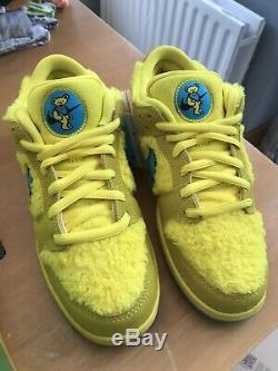 Rare Nike SB Dunk Low Pro QS Grateful Dead UK 8 Yellow / Very Minor Flaw