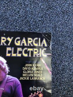 Rare Original Vintage GRATEFUL DEAD Jerry Garcia Electric Poster 20x13