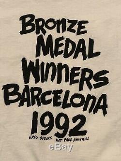 Rare Vintage 1992 Lithuania Basketball Olympics Grateful Dead Shirt White Large