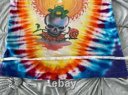 Rare Vintage GRATEFUL DEAD Tye Dye Rainbow Liquid Frog 1987 Tour NYC Shirt Sz M