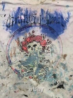 Rare Vintage Grateful Dead 1988 Tour Philadelphia Skull Shirt Medium 1 Of A Kind