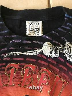 Rare Vintage Grateful Dead Wild Oats Large T-Shirt Spiral Skeletons NICE! SS