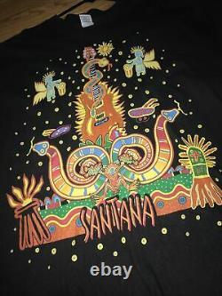 Santana. 1996 Vintage Shirt. XL Grateful Dead Band Single Stitch RARE BLACK