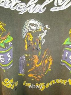 Super Rare Grateful Dead On Tour 1980 15th Anniversary Raglan Shirt