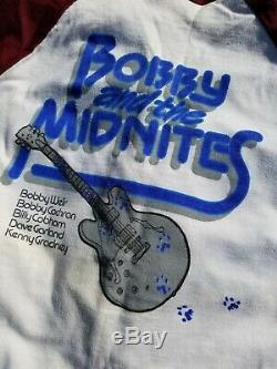 TRUE Vintage RARE 1982 Bobby and the Midnites GRATEFUL DEAD Sm T-shirt