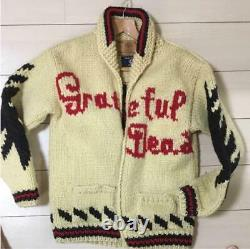 Used GRATEFUL DEAD × Canadian Cowichan Sweather Jacket Size L Rare O