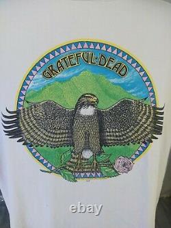 VERY RARE Vintage 1984 Grateful Dead Shirt XXL TOUR LUNQUIST EAGLE EYE
