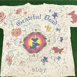 VTG 90s Grateful Dead All Over Print Rare Vintage 1991 Shirt Mens XL Brockum