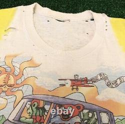 VTG 90s Grateful Dead Tie Dye Band Tee Rare Vintage 1994 Tour Bears Thrashed XL