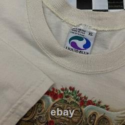 VTG 90s Liquid Blue USA Grateful Dead Other Ones T Shirt Mens XL Tan Rare 1998