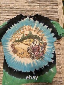 VTG Grateful Dead Rare 95 Summer Tour Highgate VT Original Liquid Blue XL