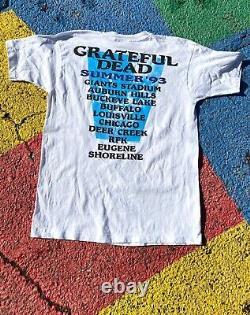 VTG Grateful Dead Summer Tour 1993 Rare Colorway Tour Shirt Graphic Tee USA XL