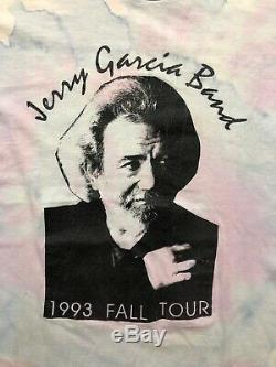 VTG Jerry Garcia Band 1993 Fall Tour T-Shirt Grateful Dead Tye Dye Rare Size XL