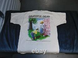 Very Rare Grateful Dead Sunday Post Style Tshirt Vintage Large Nwot Double Side