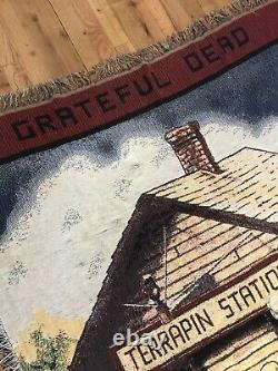 Very Rare Vintage 1977 Grateful Dead Terrapin Station Woven Blanket Tapestry