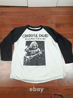 Vintage 1984 Grateful Dead Concert Tour t Shirt Summer raglan Jersey RARE