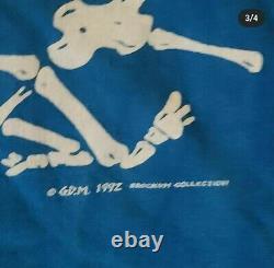 Vintage 1992 Grateful Dead Brockum Liquid Blue T-Shirt Size XL 90s Band Tee Rare