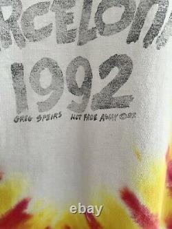 Vintage 1992 Grateful Dead Lithuania Basketball tee Olympics Rare XL Liquid Blue