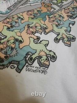 Vintage 1993 Grateful Dead MC Escher Dancing Bears Art Band Tee Shirt XL