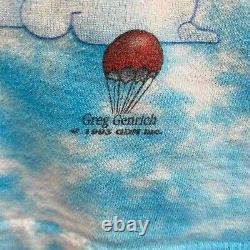Vintage 1993 Grateful Dead Songs Fill The Air Tie Dye Shirt RARE LONG SLEEVE