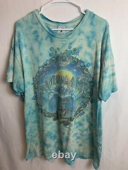 Vintage 1993 Mike DuBois Blue Teal Tie Dye Grateful Dead Rare Butterfly Flower