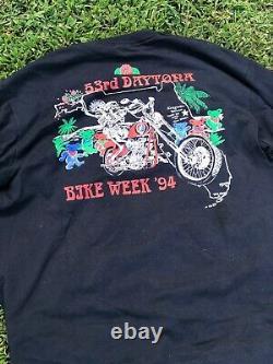 Vintage 1994 Grateful Dead 53rd Daytona Bike week Band T-shirt size XL rare