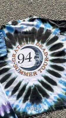 Vintage 1994 Grateful Dead Summer Tour Tie Dye Sun/Moon Concert T-Shirt Rare