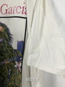 Vintage 1995 Grateful Dead Jerry Garcia Last Tour RARE! 2XL White Fare Thee Well