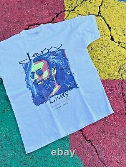 Vintage 1995 Jerry Garcia Lives in Our Hearts RIP Graphic art Shirt Rare USA XL