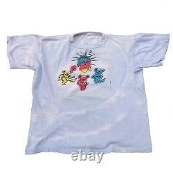 Vintage 80s The Grateful Dead Dancing Bears 1980 Parking Lot T-Shirt Rare