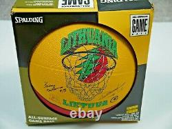 Vintage 90s Grateful Dead Lithuania Basketball Spalding NIB Olympics 1996 Rare