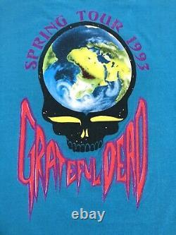 Vintage 90s Grateful Dead Spring Tour 1993 T-Shirt Rain Forest GDM Inc XL Rare