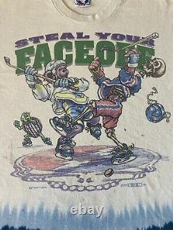 Vintage 90s Grateful Dead Steal Your Face Off Liquid Blue XL T-shirt Very Rare