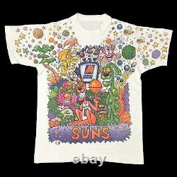 Vintage 90s Phoenix Suns Joey Mars Rare Grateful Dead Style Art T-Shirt Medium
