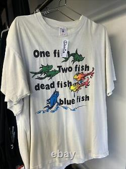 Vintage 90s Rare Grateful Dead dr. Seuss band tee T-shirt Size Mens XL