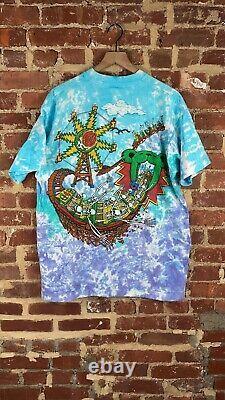 Vintage 93 Grateful Dead single stitch liquid blue XL 23x30 Tour Rare Summer