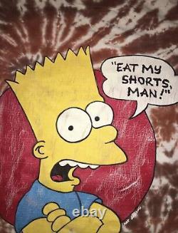 Vintage Bart Simpson Tie Dye Grateful Dead Lot Tee Rare XL