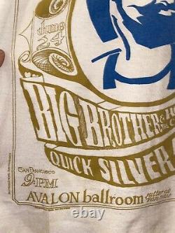 Vintage Family Dog Zig Zag Big Brother Quicksilver Grateful Dead T Shirt Avalon