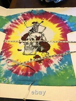 Vintage Grateful Dead 1985 Vincent Perez Tee Shirt Skull RARE Men XL Tie Dye