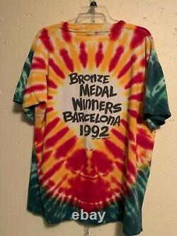 Vintage Grateful Dead 1992 Lithuania T Shirt X-Large Tie Dye Olympics RARE XL