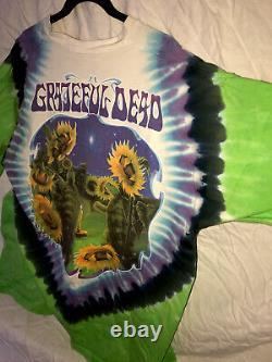 Vintage Grateful Dead 1998 Rare Terrapin Shirt Liquid Blue XXL