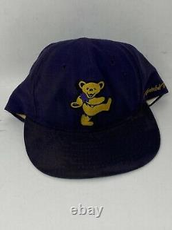 Vintage Grateful Dead Baseball Hat Cap Dancing Bears Rare SnapBack Hat Purple