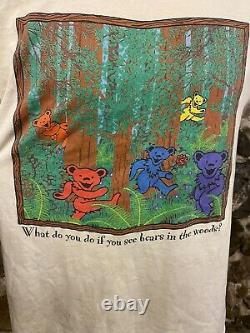 Vintage Grateful Dead Bears In The Woods Concert Tee Band T RARE