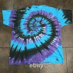 Vintage Grateful Dead LIQUID BLUE T Shirt Spiral Skeletons Tye Dye RARE XL USA
