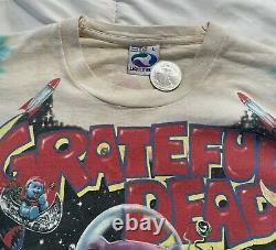Vintage Grateful Dead Liquid Blue Long Sleeve Shirt Size LG RARE Cosmic Charlie