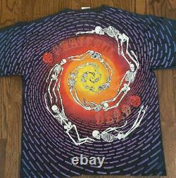 Vintage Grateful Dead Shirt 1992 Rare Brockum skeletons