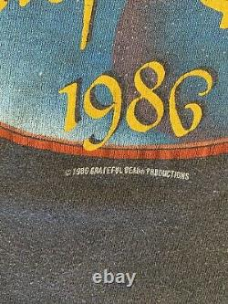 Vintage Grateful Dead Shirt Rare NYE 1986 Perfect Fade Single Stich
