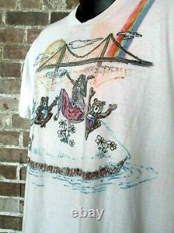 Vintage Grateful Dead T-Shirt (XL) Hand-Drawn Art 2-Sided RARE-Unique Band Tee