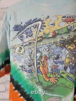 Vintage Grateful Dead Tie- Dye Dead Headers F. C Soccer XL Rare USA 100% Cotton